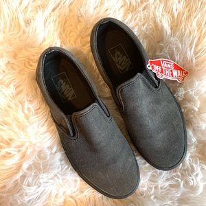 VANS | black slip on sneakers sz 8 NWT